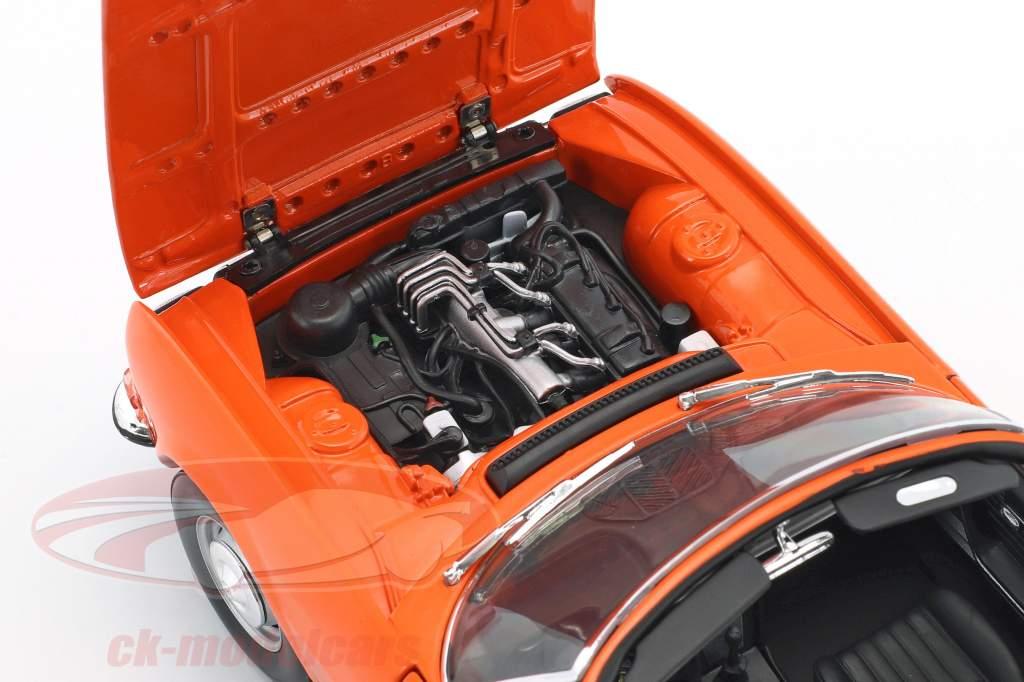 Peugeot 504 Cabriolet anno 1970 arancione 1:18 Norev