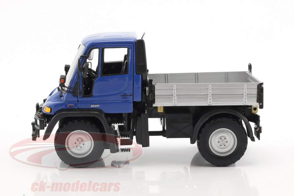 Mercedes-Benz Unimog blau / grau / schwarz 1:32 Welly