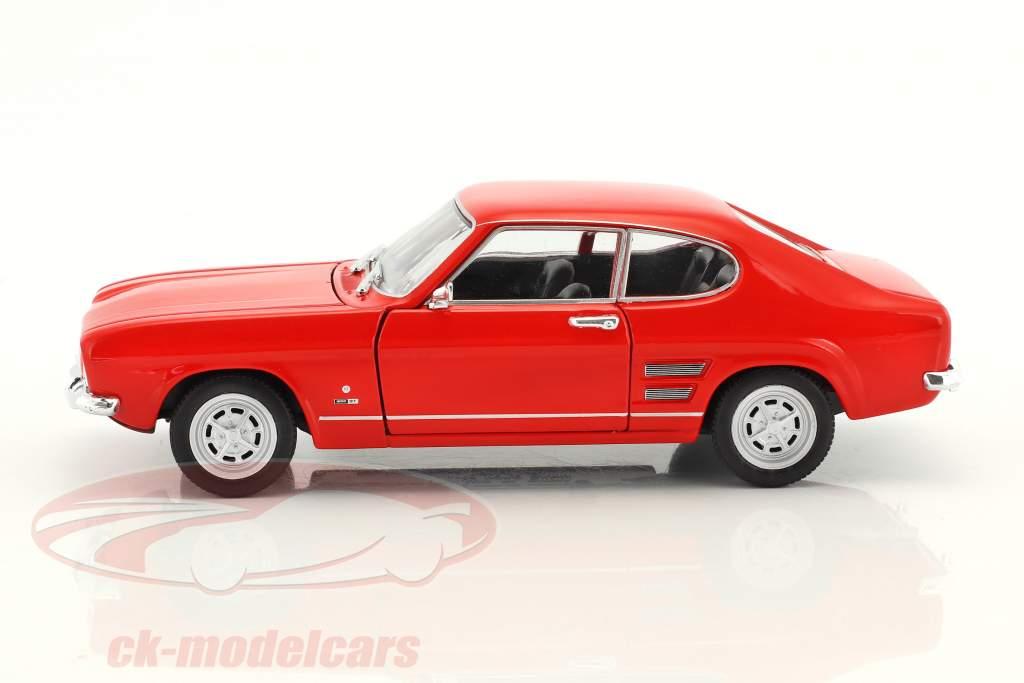 Ford Capri Bouwjaar 1969 rood 1:24 Welly