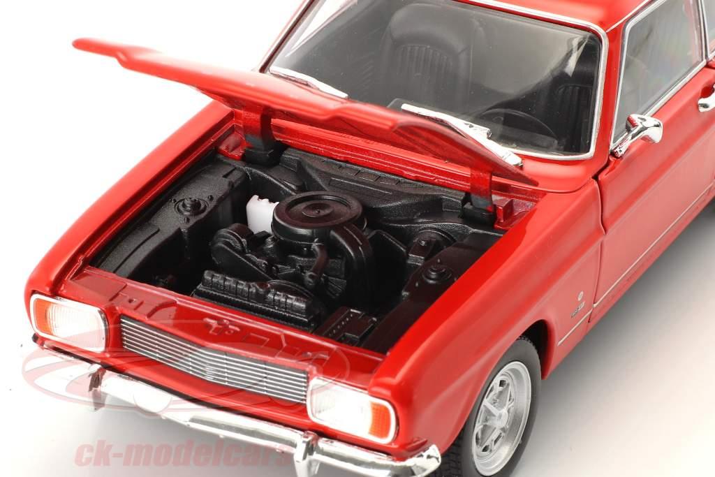 Ford Capri ano de construção 1969 vermelho 1:24 Welly