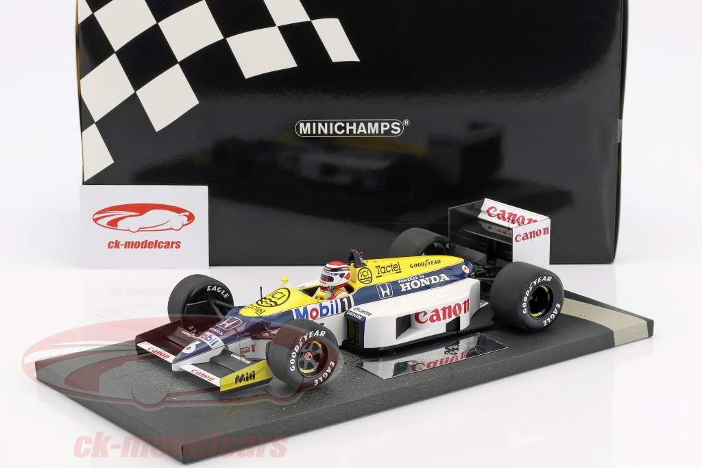 Nelson Piquet Williams Honda FW11 #6 Formel 1 1986 1:18 Minichamps