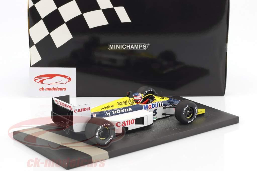 Nigel Mansell Williams Honda FW11 #5 formule 1 1986 1:18 Minichamps