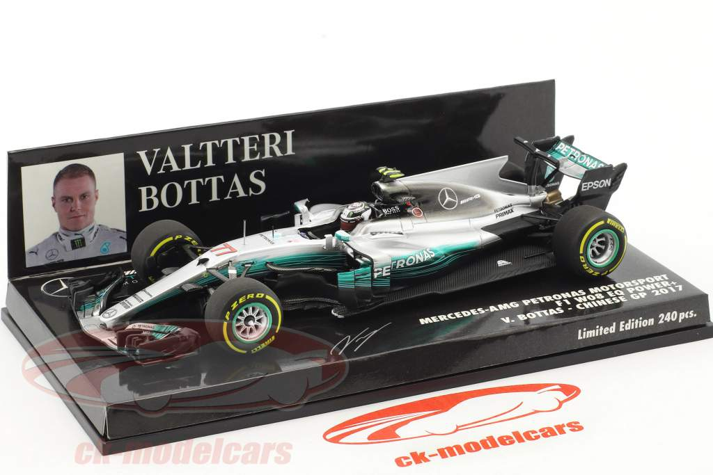 Valtteri Bottas Mercedes F1 W08 EQ Power+ #77 China GP Formel 1 2017 1:43 Minichamps
