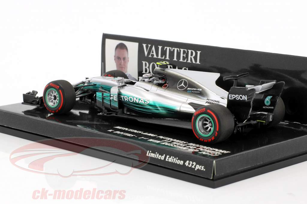Valtteri Bottas Mercedes F1 W08 EQ Power  #77 1er victoire Russian GP Formel 1 2017 1:43 Minichamps