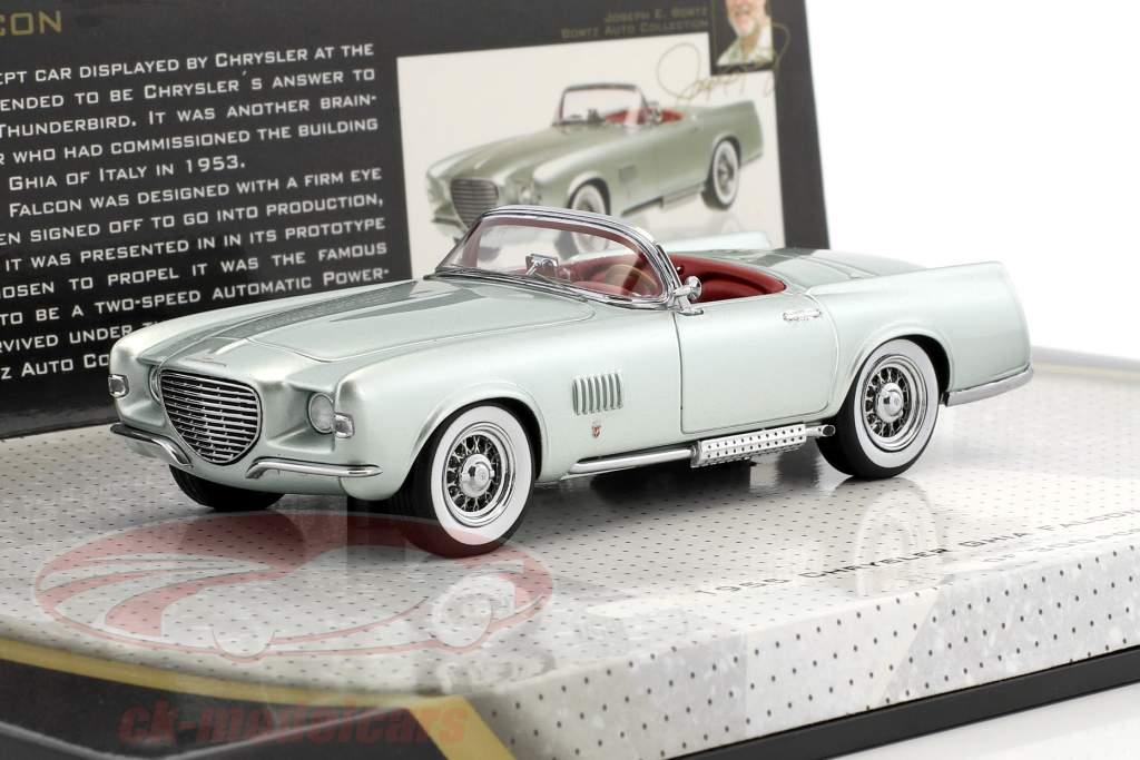 Chrysler Ghia Falcon année de construction 1955 vert argent métallique 1:43 Minichamps
