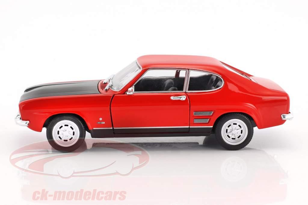 Ford Capri RS Opførselsår 1969 rød / sort 1:24 Welly