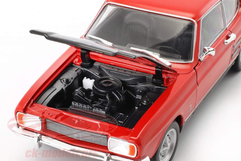 Ford Capri RS año de construcción 1969 rojo / negro 1:24 Welly