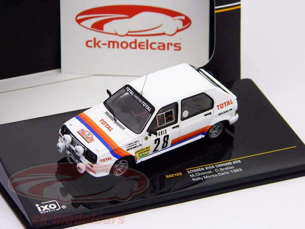 Citroen Visa Chrono #28 Chomat, Breton Monte Carlo Rally 1983 1:43 Ixo