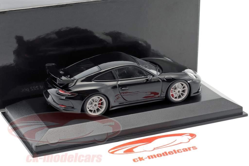 Porsche 911 (991 II) GT3 année de construction 2017 noir 1:43 Minichamps