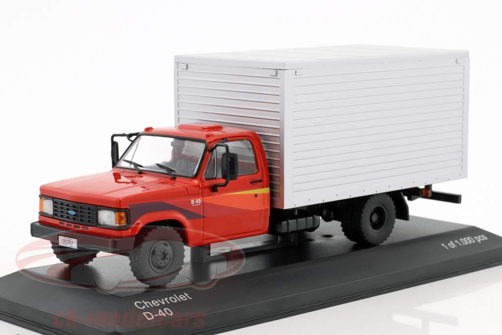 Chevrolet D-40 Box Truck année de construction 1985 rouge / argent 1:43 WhiteBox