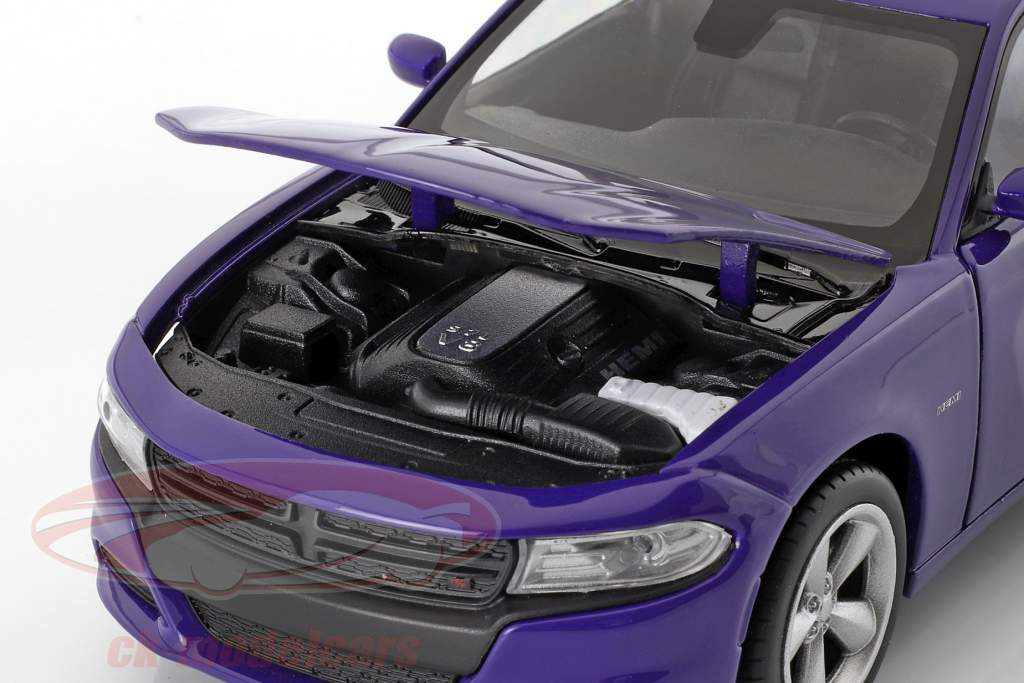 Dodge Charger R/T year 2016 purple-blue 1:24 Welly
