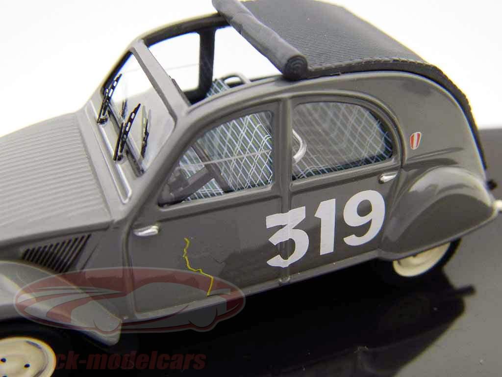 Citroen 2CV #319 M. Bernier, J. Duvey Monte Carlo Rally 1954 1:43 Ixo