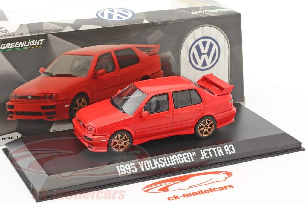 Volkswagen VW Jetta A3 année de construction 1995 rouge 1:43 Greenlight