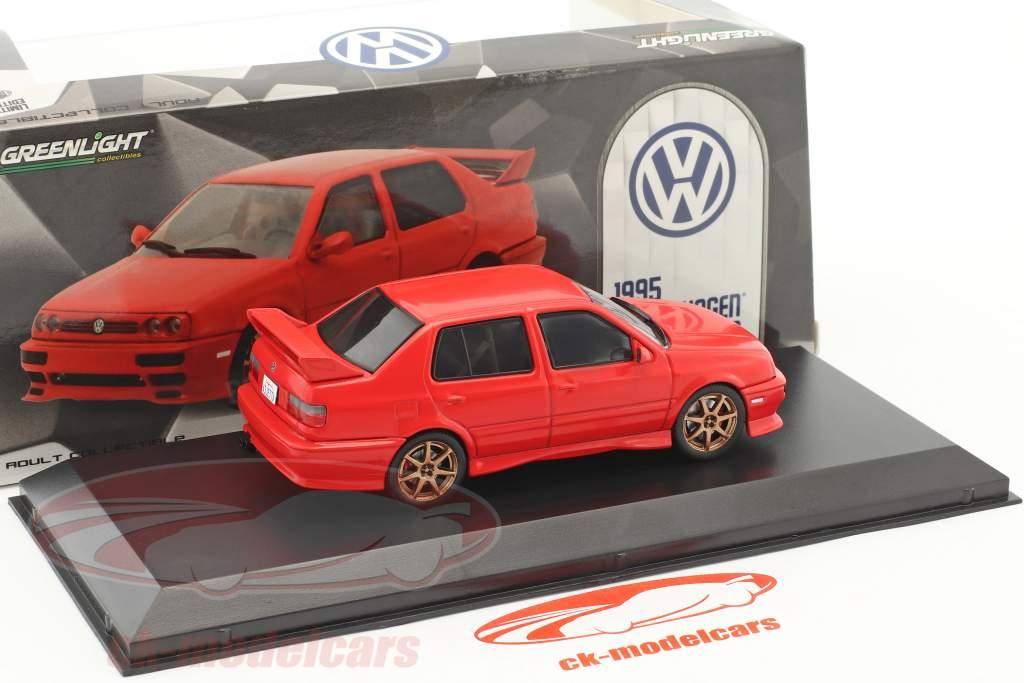 Volkswagen VW Jetta A3 year 1995 red 1:43 Greenlight