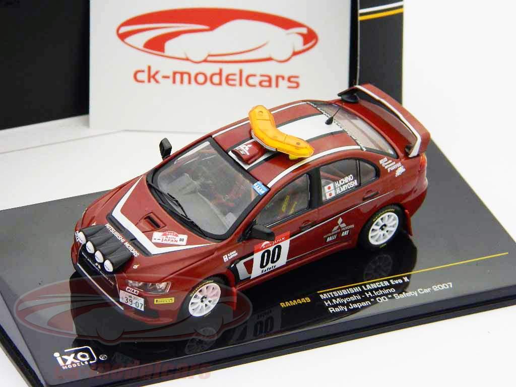 Mitsubishi Lancer Evo X #00 Rallye du Japon 2007 1:43 voiture de sécurité Ixo
