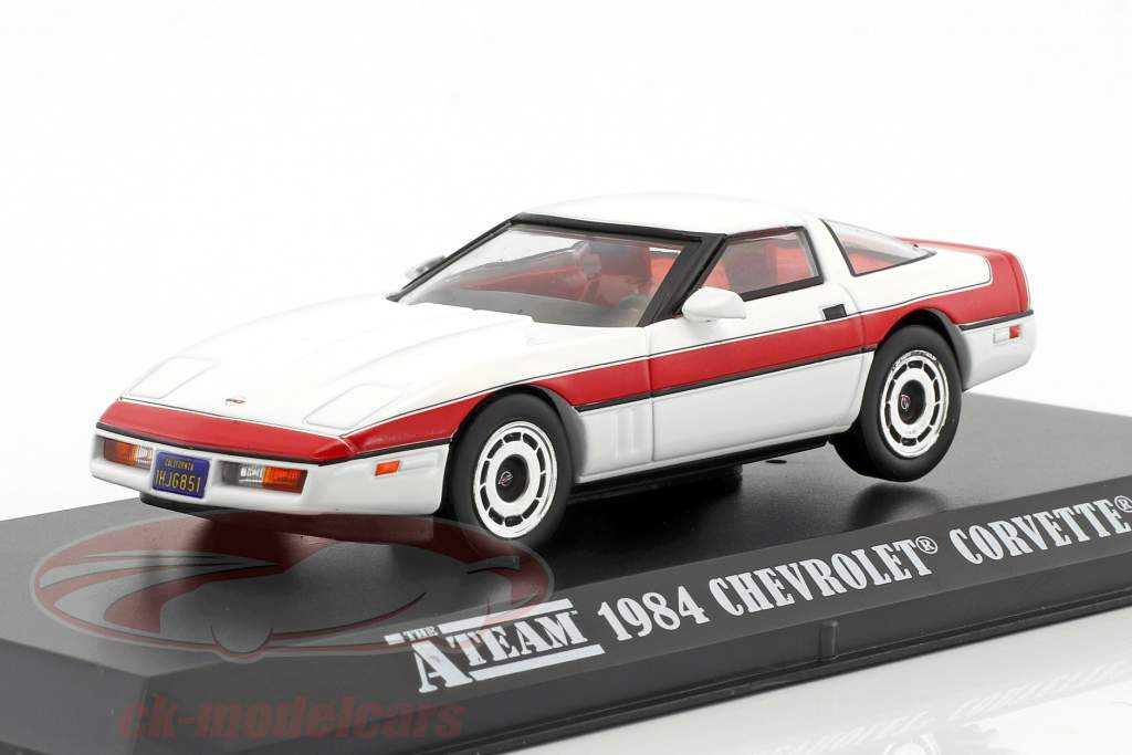 Chevrolet Corvette C4 ano de construção 1984 série de TV The A-Team (1983-87) branco / vermelho 1:43 Greenlight