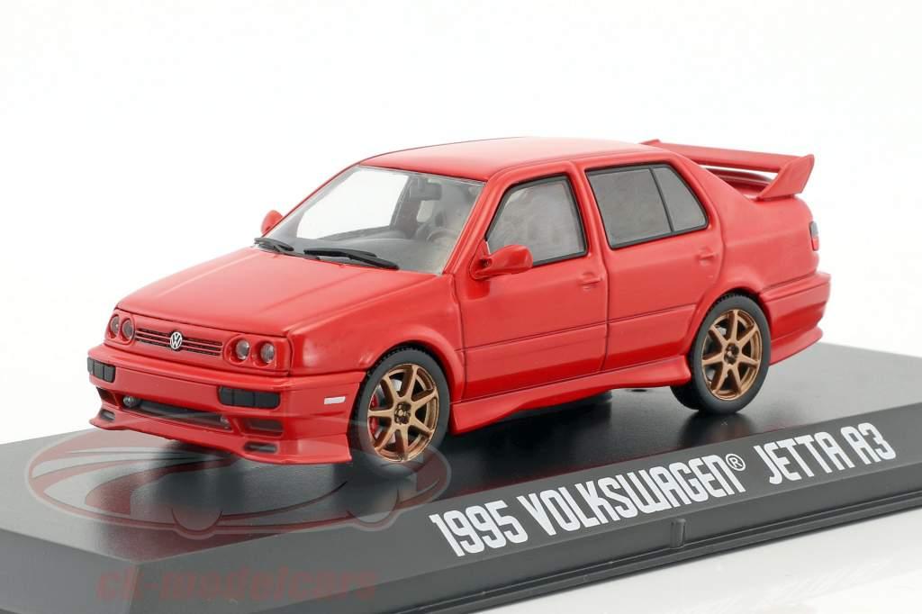 Volkswagen VW Jetta A3 Opførselsår 1995 rød 1:43 Greenlight