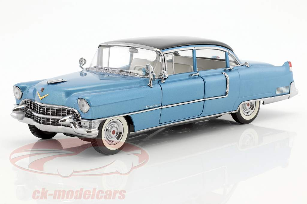 Cadillac Fleetwood Elvis Series 60 year 1955 dark blue 1:18 Greenlight