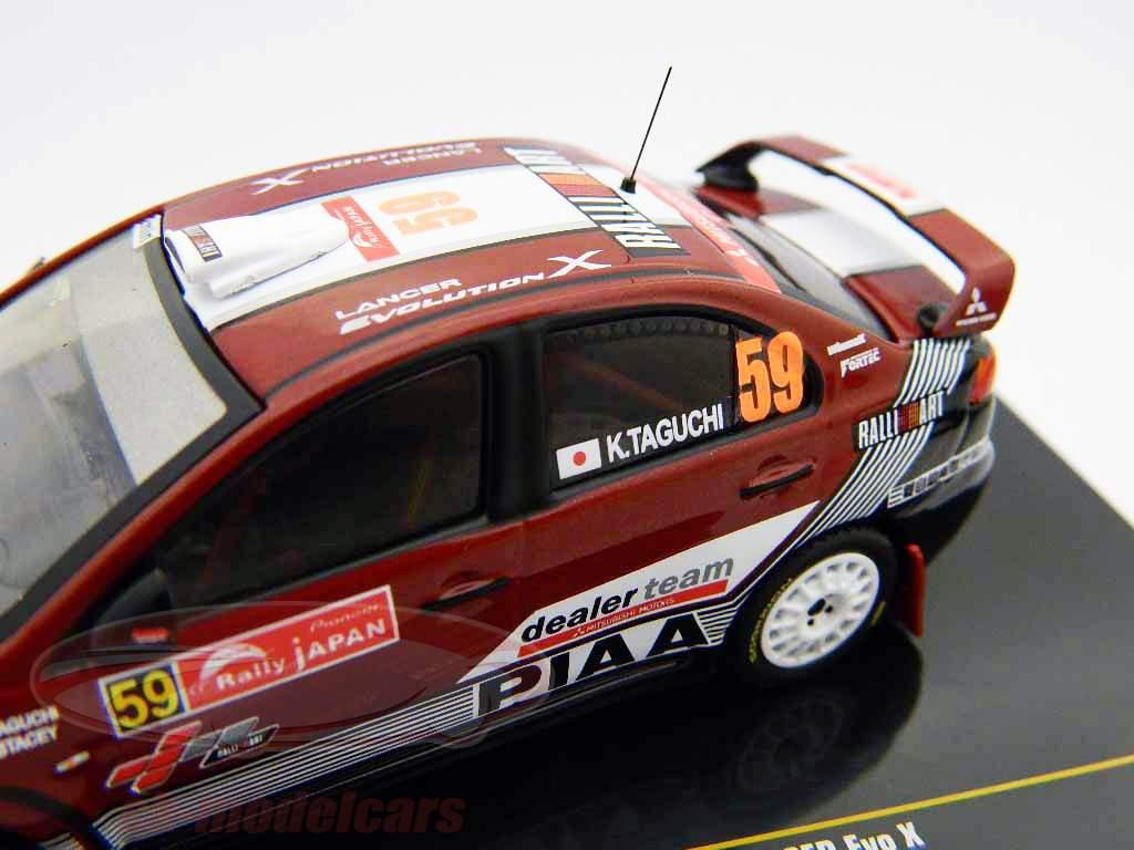 Mitsubishi Lancer Evo X #59 Rallye du Japon 2008 1:43 Ixo