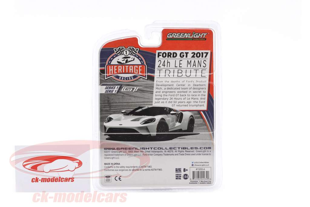 Ford GT year 2017 #2 Ford MK II 1966 tribute Racing Heritage Series black 1:64 Greenlight