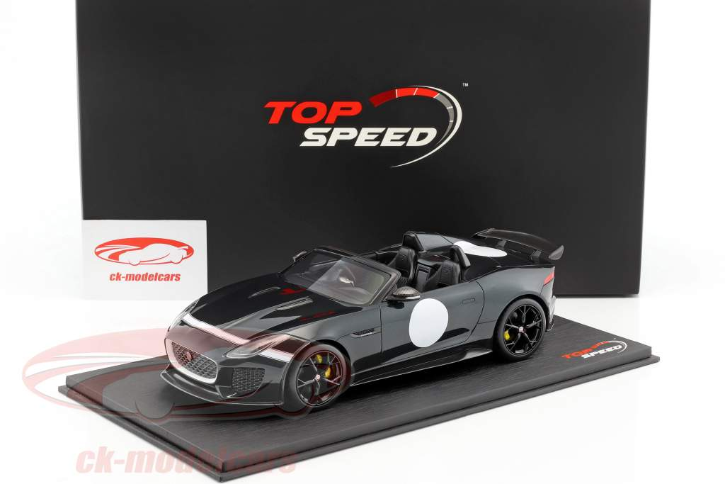 Jaguar F-Type Project 7 British Racing Baujahr 2015 grün metallic 1:18 TrueScale