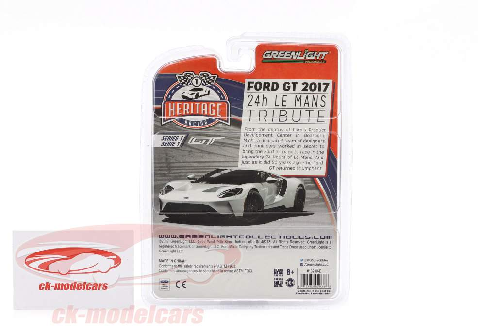 Ford GT année de construction 2017 #2 Ford GT40 MK IV 1967 hommage Racing Heritage Series jaune 1:64 Greenlight