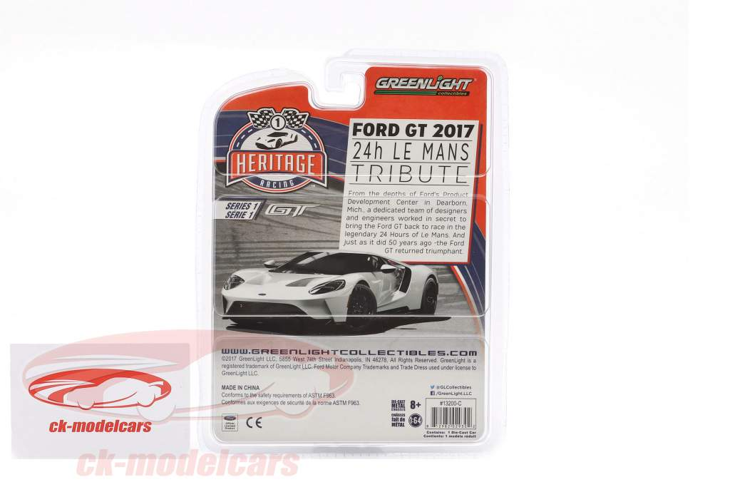 Ford GT année de construction 2017 #5 Ford GT MK II 1966 hommage Racing Heritage Series cuivre 1:64 Greenlight