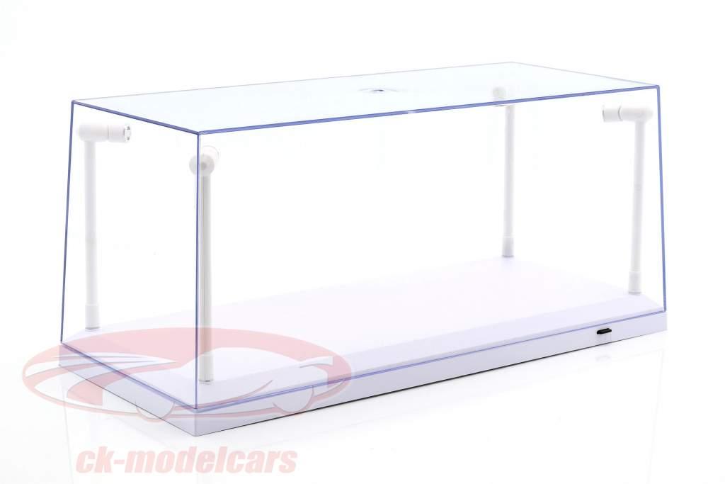 Single vitrine wit met 4 led lampen voor modelauto's in schaal 1:18 Triple9