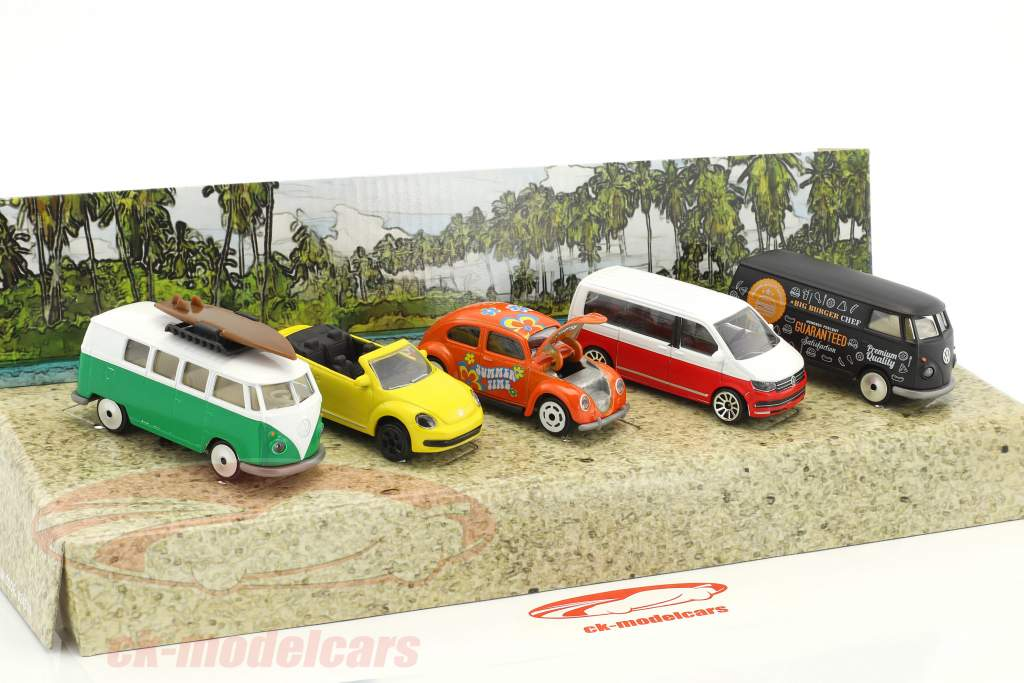 5-Car Set Volkswagen VW The Originals Gift Pack 1:64 Majorette