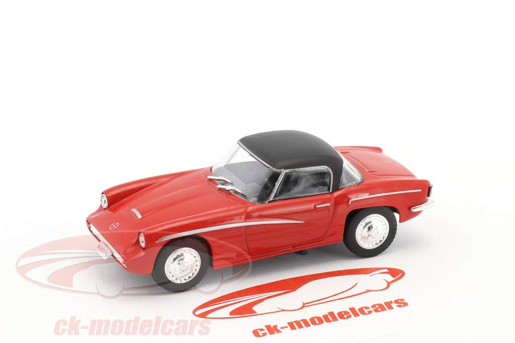 Syrena Sport year 1960 red / black 1:43 Altaya