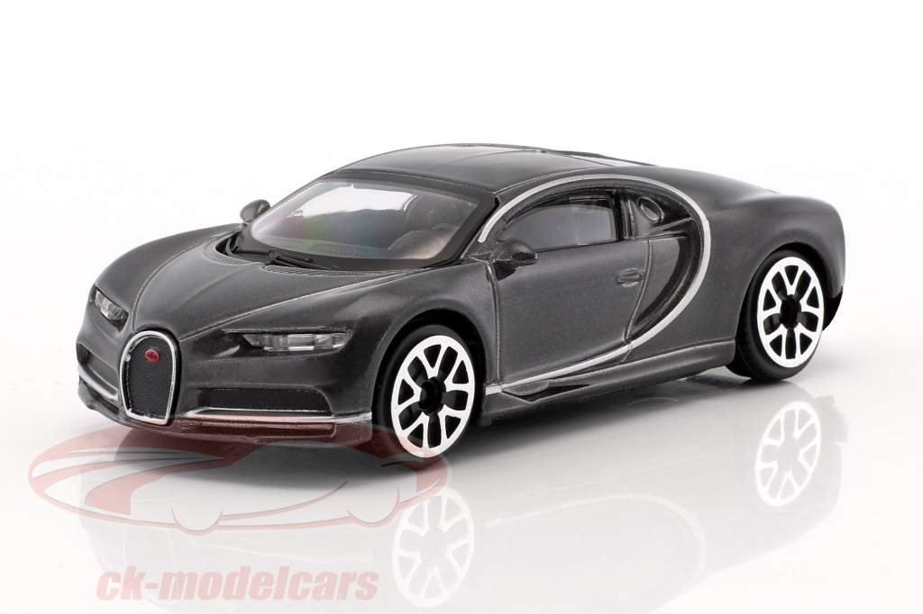 Bugatti Chiron dunkelgrau metallic 1:43 Bburago