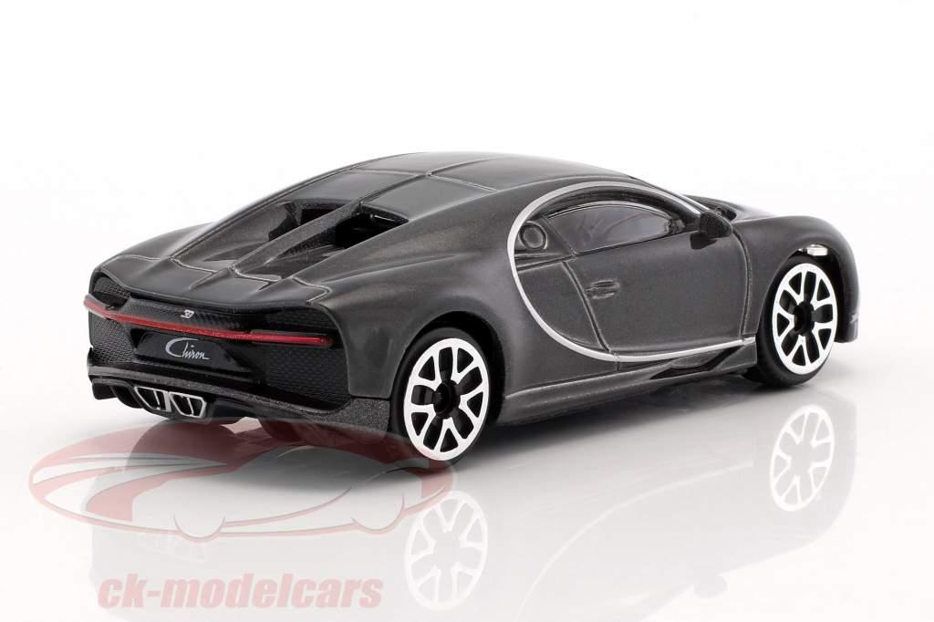 Bugatti Chiron mørkegrå metallisk 1:43 Bburago