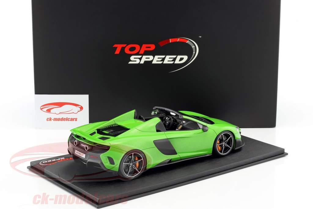 McLaren 675LT Spider mantis green 1:18 TrueScale