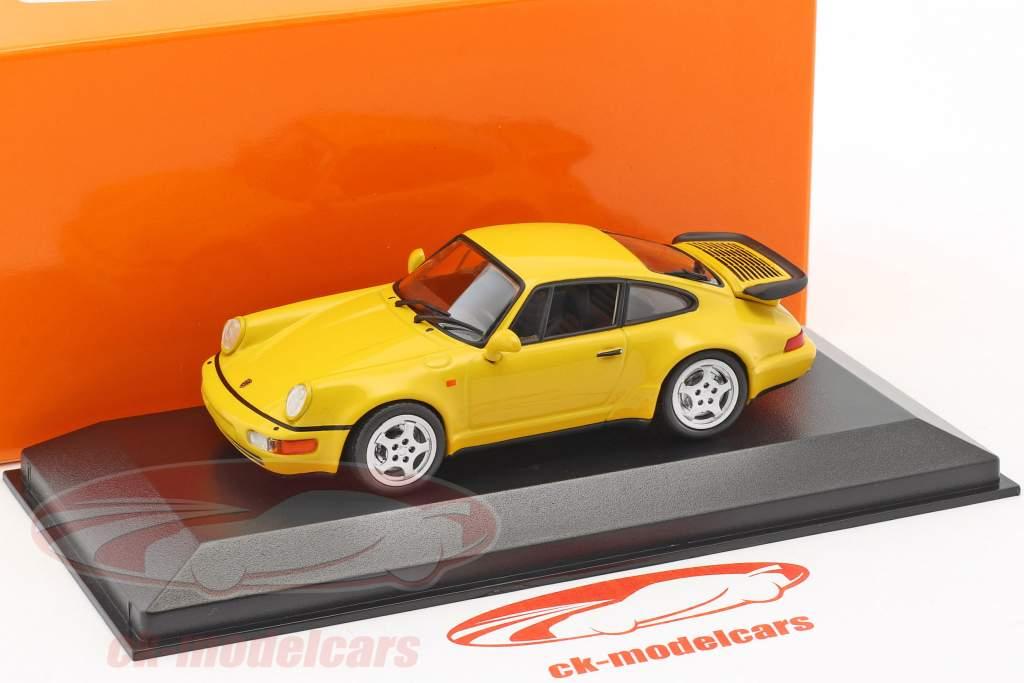 Porsche 911 (964) Turbo anno di costruzione 1990 giallo 1:43 Minichamps