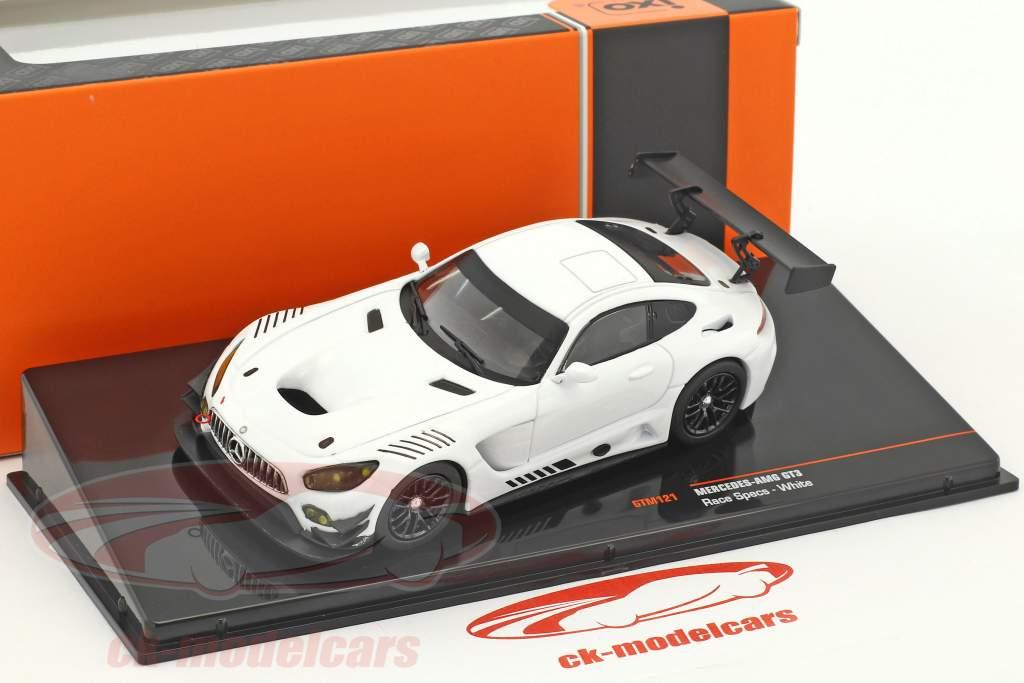 Mercedes-Benz AMG GT3 Race Version blanc 1:43 Ixo