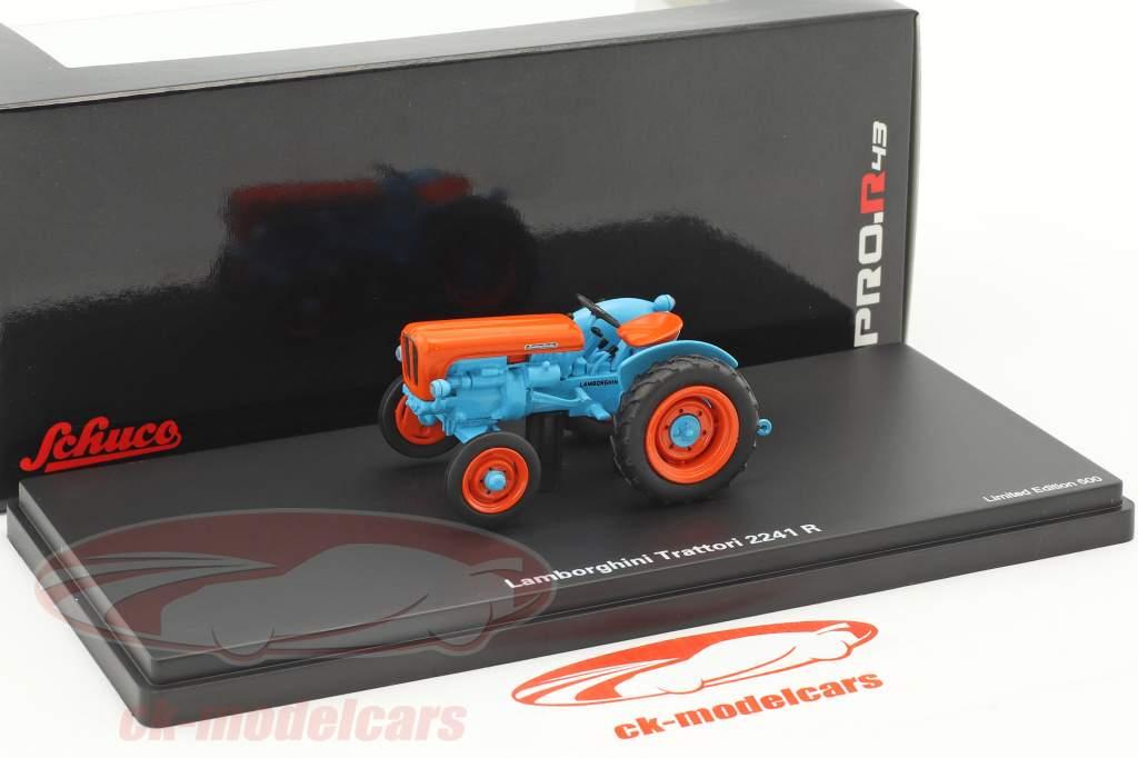Lamborghini 2241 R tractor blauw / oranje 1:43 Schuco
