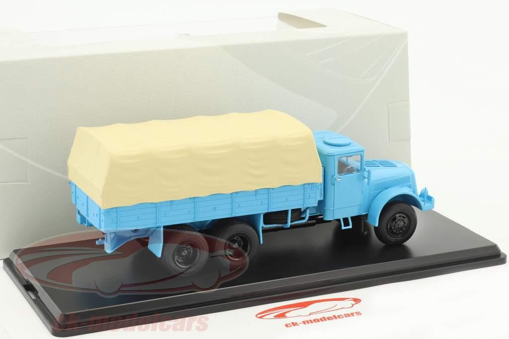 Tatra 111 Pritsche mit Plane hellblau 1:43 PremiumClassiXXs