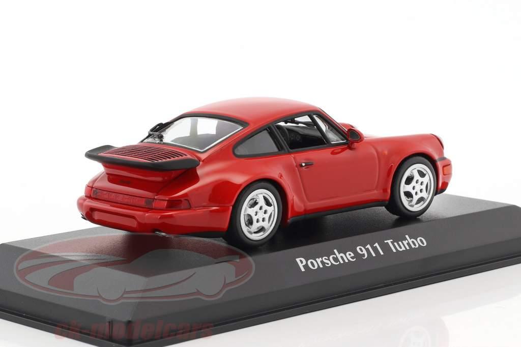 Porsche 911 (964) Turbo anno di costruzione 1990 rosso 1:43 Minichamps