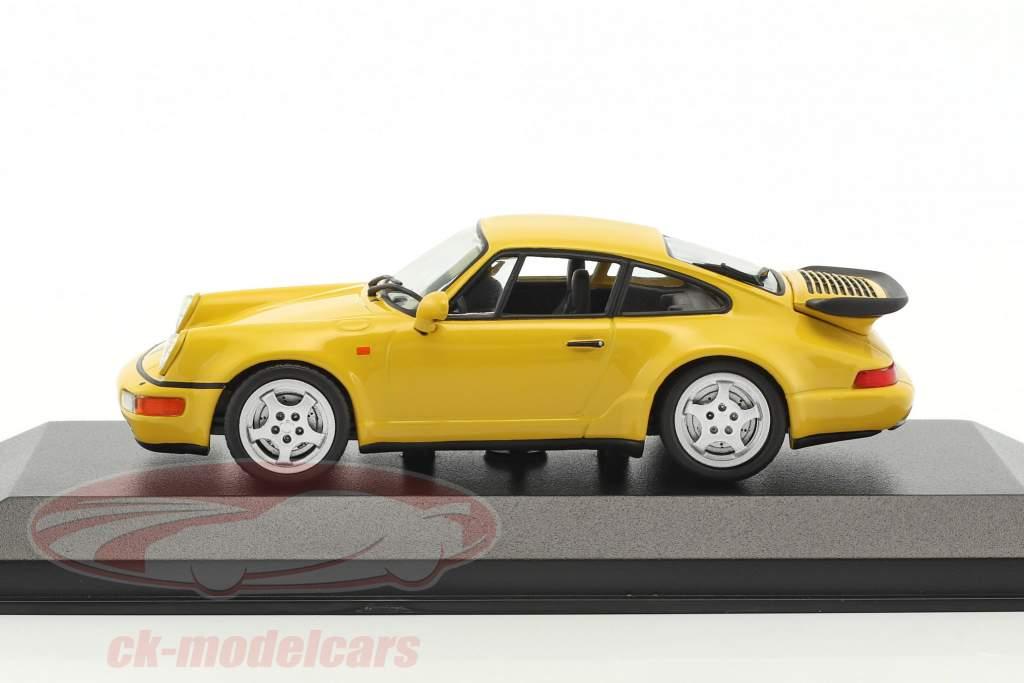 Porsche 911 (964) Turbo Baujahr 1990 gelb 1:43 Minichamps