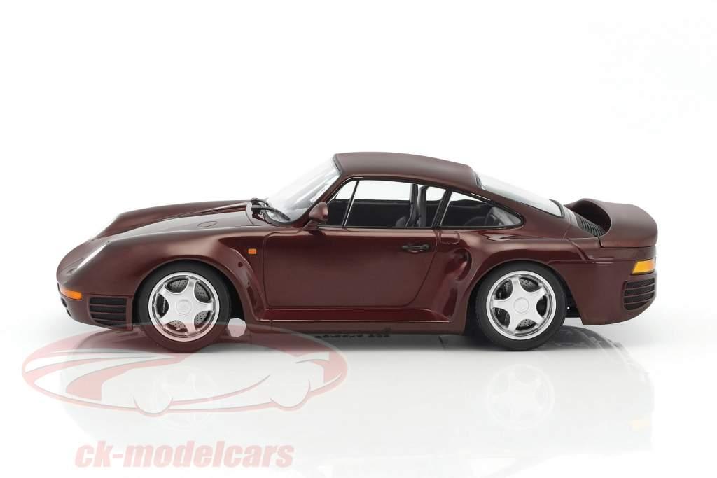 Porsche 959 Baujahr 1987 dunkelrot metallic 1:18 Minichamps