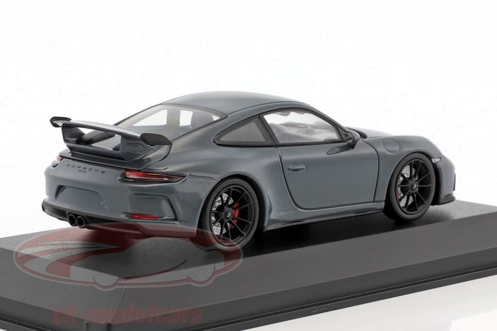 Porsche 911 (991 II) GT3 year 2017 graphite blue metallic 1:43 Minichamps
