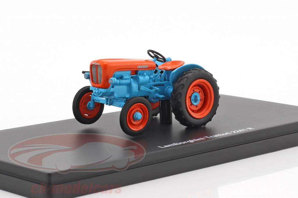 Lamborghini 2241 R tractor azul / naranja 1:43 Schuco