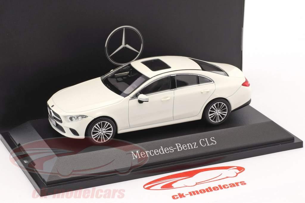 Mercedes-Benz CLS Coupe (C257) Baujahr 2018 designo diamantweiß 1:43 Norev