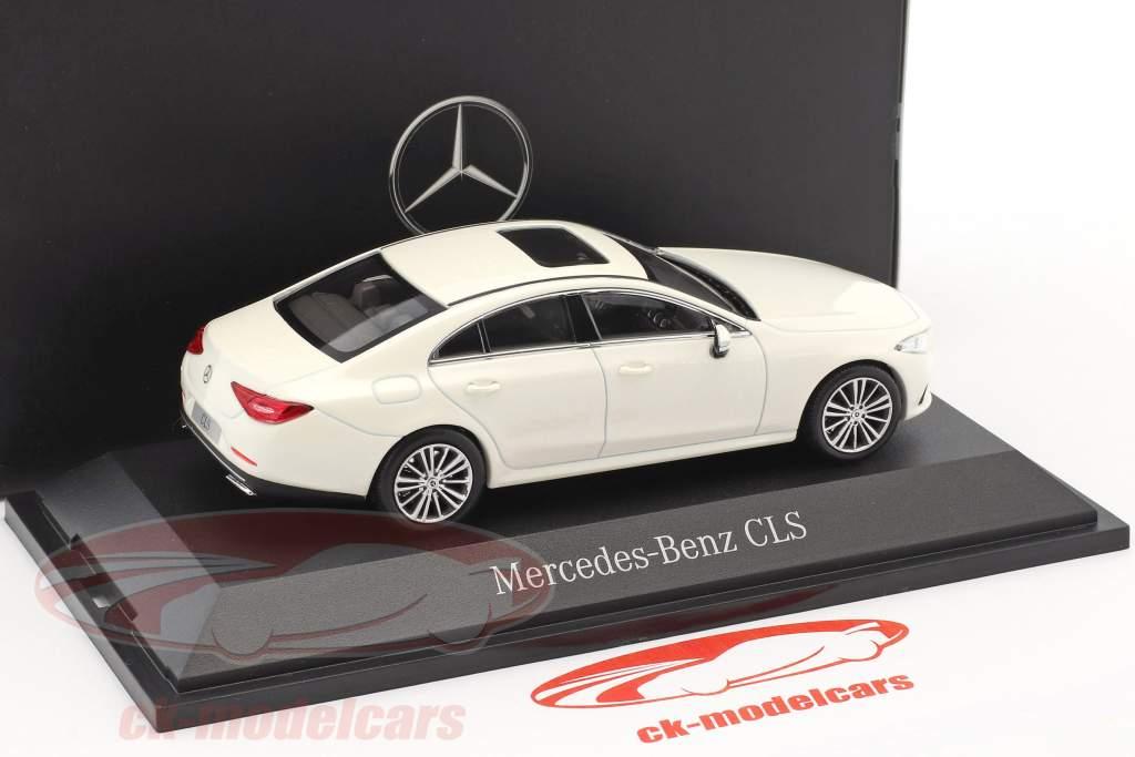 Mercedes-Benz CLS coupe (C257) year 2018 designo diamond White 1:43 Norev