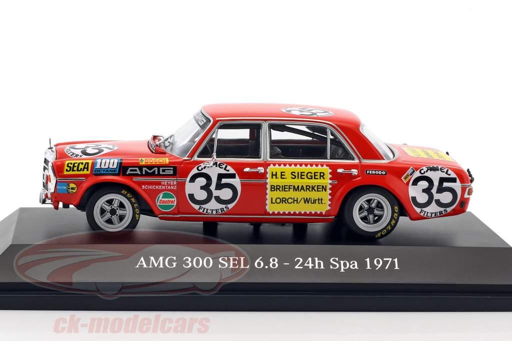 Mercedes-Benz AMG 300 SEL 6.8 #35 2 24h Spa 1971 Heyer, Schickentanz 1:43 Minichamps