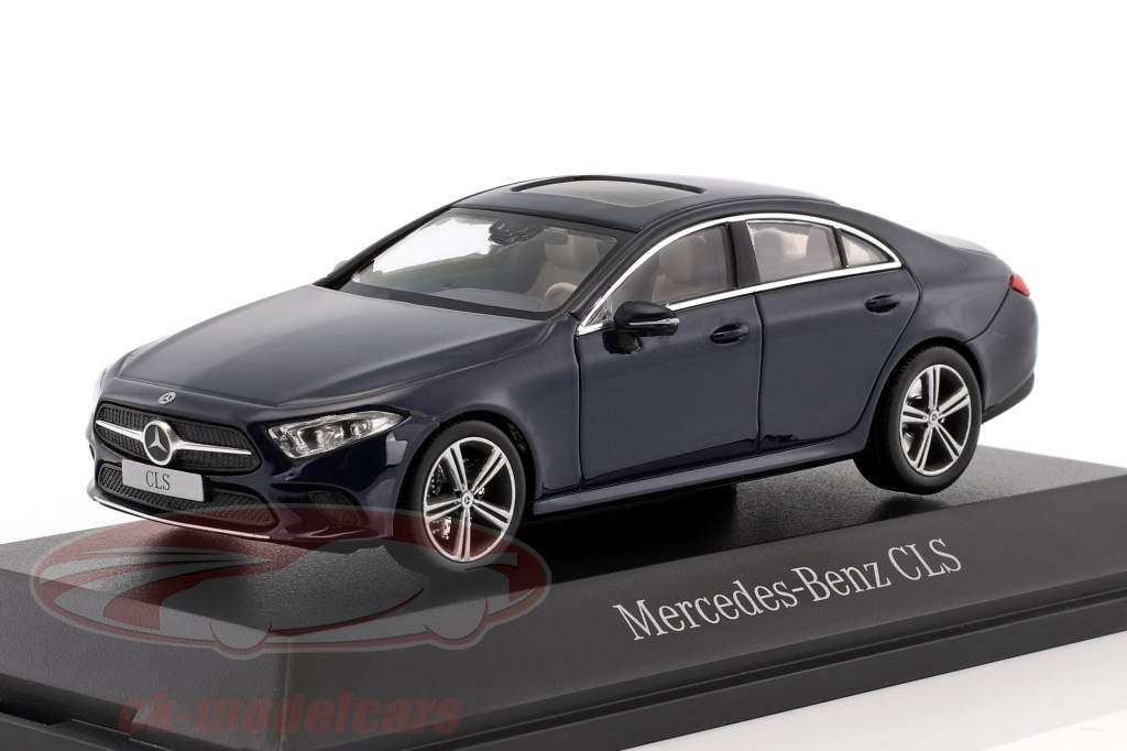 Mercedes-Benz CLS coupe (C257) año de construcción 2018 cavansite azul metálico 1:43 Norev