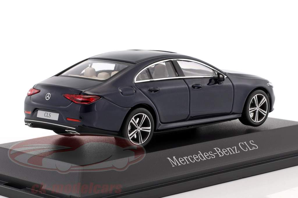 Mercedes-Benz CLS coupe (C257) anno di costruzione 2018 cavansite blu metallico 1:43 Norev