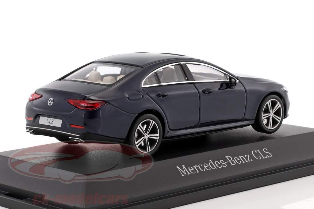 Mercedes-Benz CLS coupe (C257) Bouwjaar 2018 cavansite blauw metalen 1:43 Norev