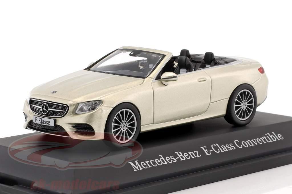 Mercedes-Benz Classe E cabriolet (A238) année de construction 2017 aragonit argent 1:43 iScale