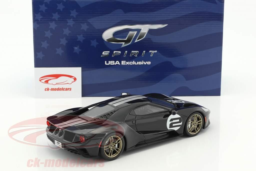 Ford GT #2 50e anniversaire édition 2016 noir / argent 1:18 GT-Spirit